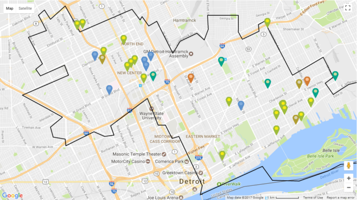 """Introducing """"The Map"""": TheHUB's exclusive guide to what and where investment is happening in Detroit"""