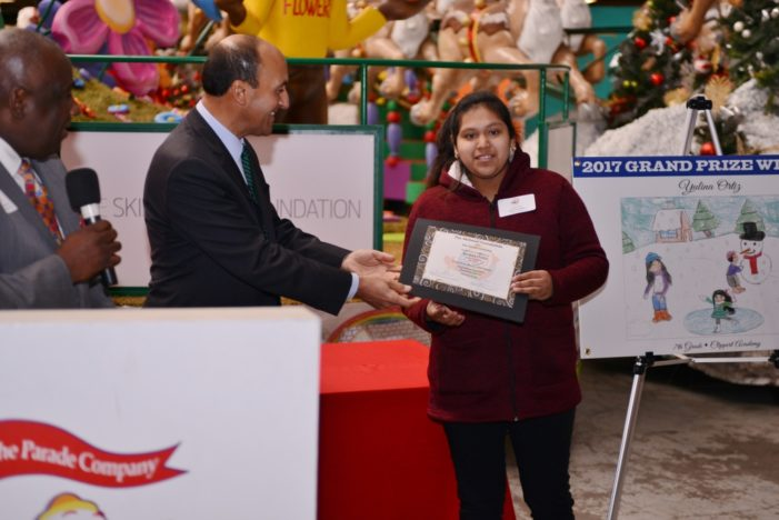 Clippert Academy 7th grader's artwork to become float in America's Thanksgiving Parade