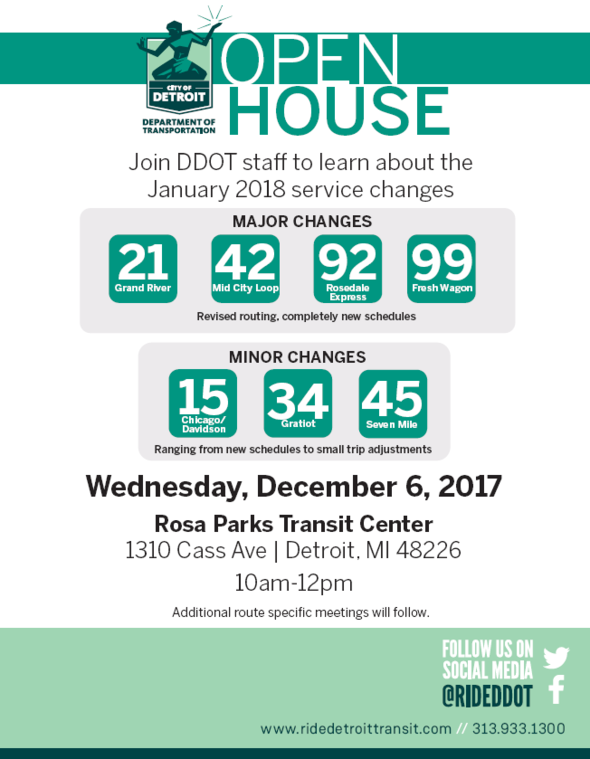 Check out upcoming service changes at DDOT's open house Dec. 6
