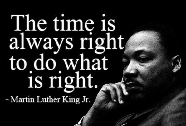 Martin Luther King's message: Do right for ourselves and others