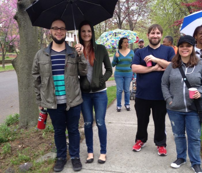 Throughout Detroit people walk to celebrate 100th birthday of urban advocate and author Jane Jacobs