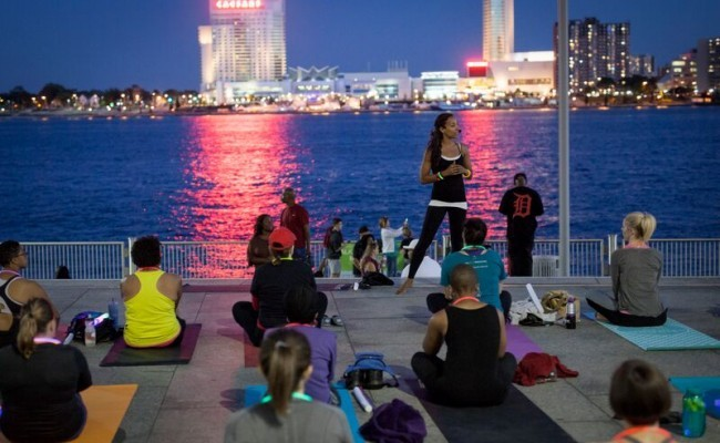 Detroit's Riverwalk bursts with healthy activity