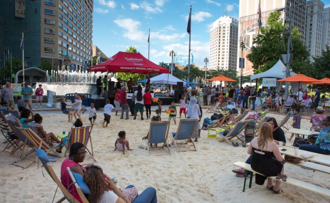 It's summer in Detroit with hot events at Campus Martius Park, Cadillac Square, Capitol Park, Grand Circus, Paradise Valley