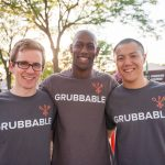 L-R: Jake Wesorick, Eric Russ, and Mike Feng, co-founders of Grubbable.