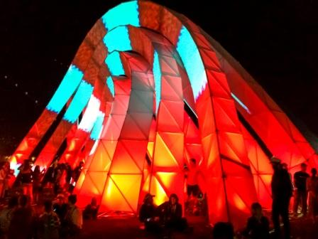Night Lights: giant sculptures dance and play throughout the night