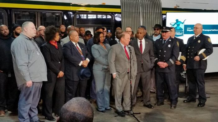 Hailing our Hereos: Mayor Duggan honors DDOT and DFD employees involved in saving City's bus fleet from fire