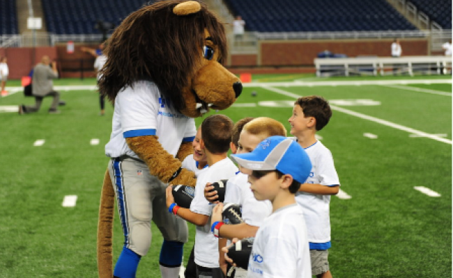 Detroit Lions help kids roar into a healthy lifestyle