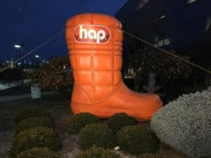 The HAP Big Boot makes its first appearance in 2017.
