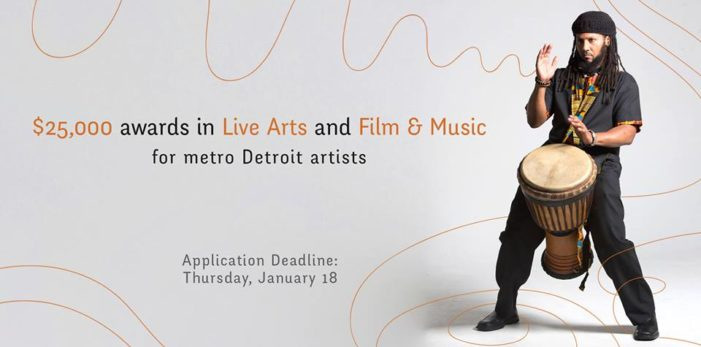 Detroit artists encouraged to apply for Kresge Artist Fellowships' $25,000, no-strings-attached prizes