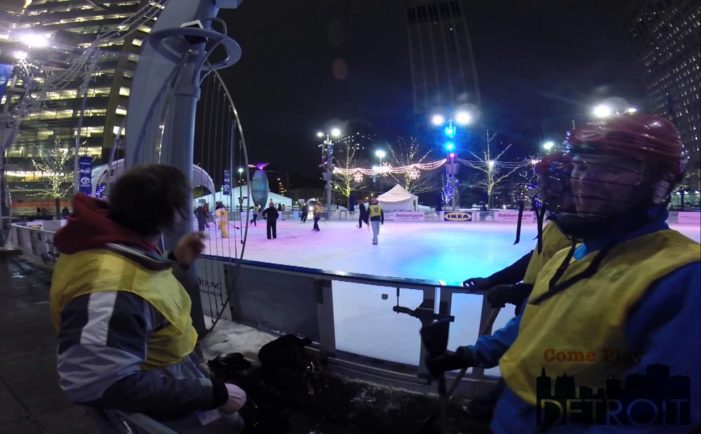 It's a sweep! Broomball comes back to The Rink at Campus Martius