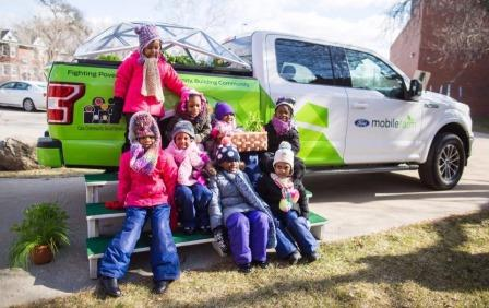 From freight container and back of F-150, Ford Mobile Farm will teach kids about farming, nutrition and help feed the hungry