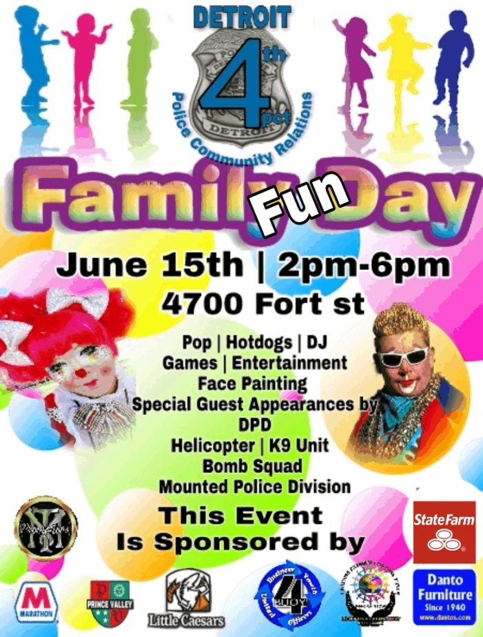 Police to host family fun in Southwest Detroit June 15