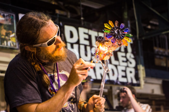 It's magic: Glassblowing, arts festival comes to Russell Industrial Center to benefit art instruction in Detroit schools