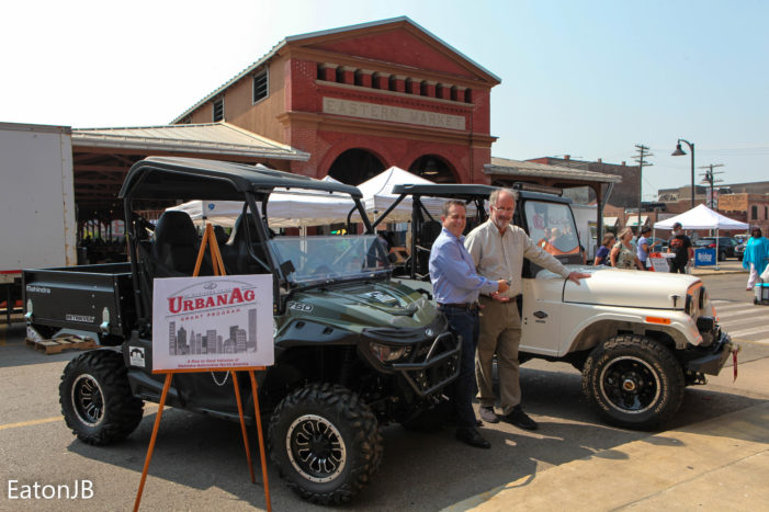 Mahindra Automotive North America donates two work vehicles to Eastern Market