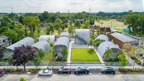 True North Quonset hut neighborhood selected as finalist for international architecture prize