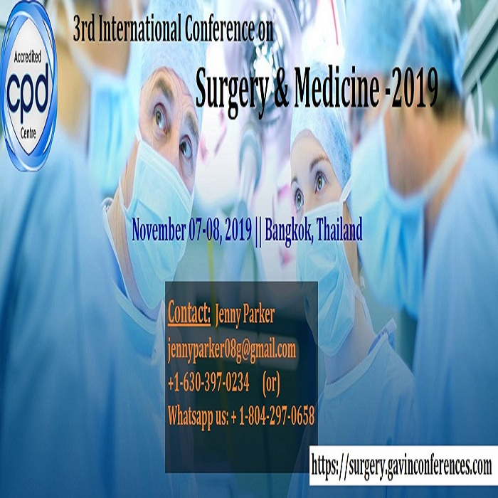 3rd International Conference On Surgery And Medicine