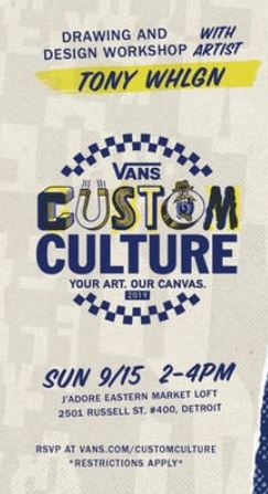 Vans Custom Culture Workshop with artist Tony Whlgn