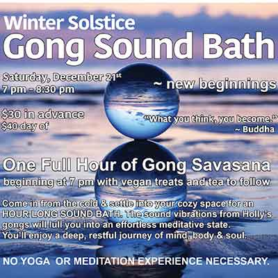Gong Sound Bath Winter Solstice ~ new beginnings