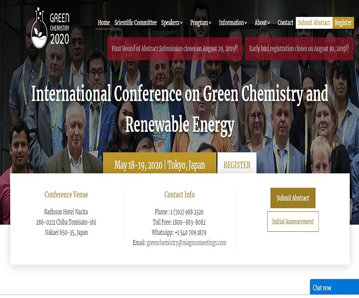 International Conference on Green Chemistry and Renewable Energy